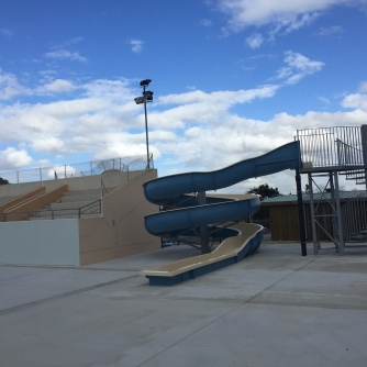Water Slide at Bazas Pool