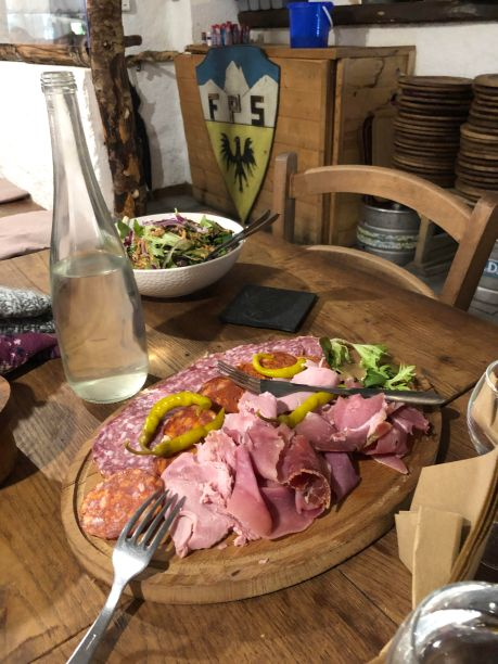 Charcuterie for two, with fondue